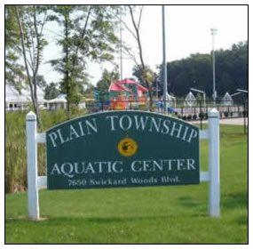 plain township aquatic center sign